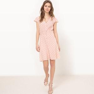 Bedrucktes Kleid mit Knopfverschluss, Viskose MADEMOISELLE R
