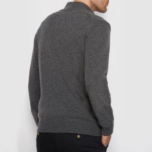 Chaqueta de punto con cremallera y cuello alto 100% lana lambswool La Redoute Collections