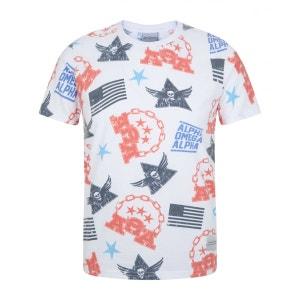 Motif T-Shirt Tee Manche Courte BLUE INC