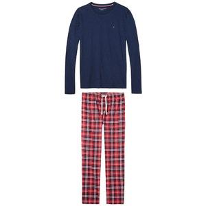 Pyjama mit langärmeligem Oberteil und karierter Hose TOMMY HILFIGER