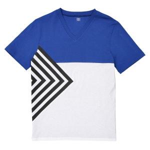 Tee shirt color block imprimé La Redoute Collections