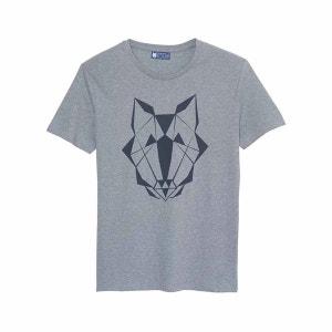 T-shirt homme en coton biologique gris LOUPP