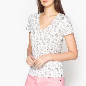 Langarmshirt mit Print und V-Ausschnitt IKKS