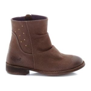 Boots Robber, plissés et zippés, cuir nubuck KICKERS