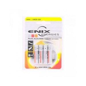 Blister 4 piles Alcaline LR03 NX AAA ENIX ENERGIE