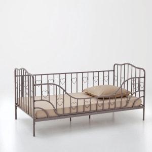 Bankbed in metaal met afneembare zijsteun en bedbodem, Aela La Redoute Interieurs