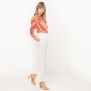 Rechte broek met hoge taille, Linnen La Redoute Collections
