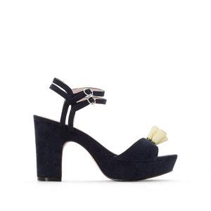 High-Heeled Tassel Trim Sandals MADEMOISELLE R