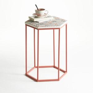 Mesa baja, velador, con superficie de cerámica Topim