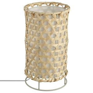 Lampe Bambou - H. 31 cm. - Marron ATMOSPHERA