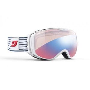 Masque de ski pour femme JULBO Blanc LUNA Marinière - Zebra Light Red JULBO