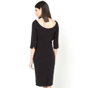 Vestido direito, mangas 3/4 LAURA CLEMENT
