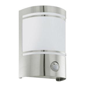 CERNO - Applique d'extérieur avec Détecteur Chrome/Verre H19cm - Luminaire d'extérieur Eglo designé par EGLO LIGHTING