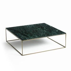 Mesa baja con efecto de latón envejecido/mármol Mahaut