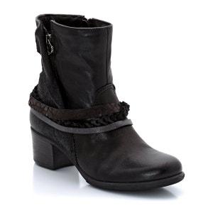 Botas com tacões Ness-Nessina, pele, presilhas no tornozelo MJUS