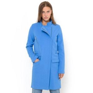 Manteau zippé, col mao R essentiel