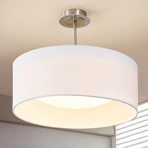 Plafonnier LED Franka en tissu de couleur blanche LAMPENWELT