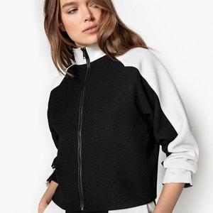 Blouson bicolore style veste de sport col montant La Redoute Collections