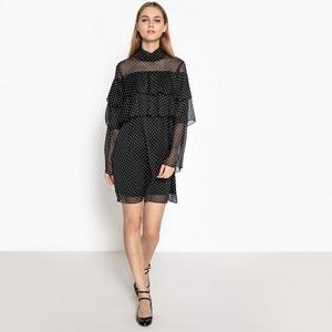 Sukienka z falbankami, woal w groszki La Redoute Collections