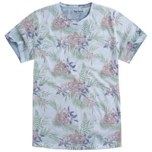 Bedrukt T-shirt met ronde hals en korte mouwen PEPE JEANS