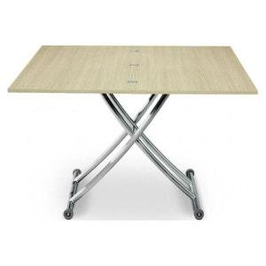 Table basse relevable extensible bois chêne clair Ella DECLIKDECO