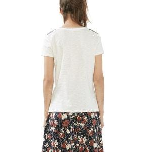 Camiseta lisa, cuello redondo ESPRIT