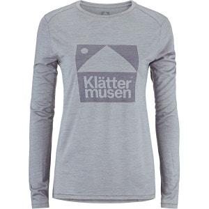 Eir - T-shirt manches longues Femme - gris KLÄTTERMUSEN