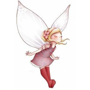 Sticker enfant - Fée volante et papillons ACTE DECO