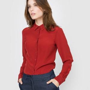 Camisa em seda, mangas compridas atelier R