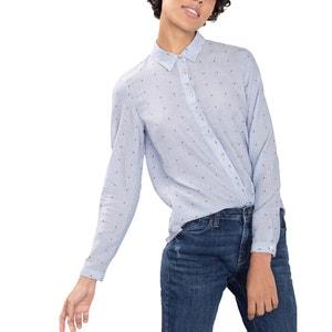 Camisa direita, algodão ESPRIT