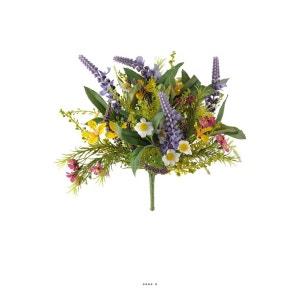 Bouquet de fleurs artificielles des champs variees H 25 cm en piquet ARTIFICIELLES