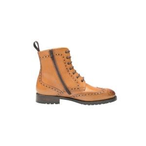 Boots Full-Brogue en cognac SHOEPASSION