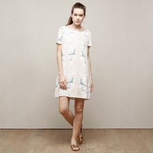 Gerades Kleid, bedruckt, Tropfenausschnitt hinten CHARLISE