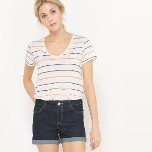 T-shirt ample à rayures, coton/modal R essentiel