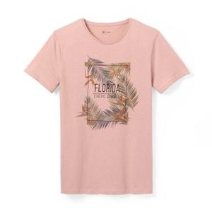 Camiseta estampada 100% algodón con cuello redondo La Redoute Collections