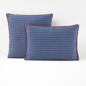 Funda de almohada de satén de algodón azul, KEITAKI La Redoute Interieurs