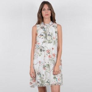 Rechte korte jurk zonder mouwen met bloemenprint MOLLY BRACKEN