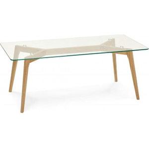 Table basse avec plateau en verre transparent BLAZE DECLIKDECO