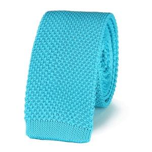 Cravate tricot BLEU CIEL uni VIRTUOSE