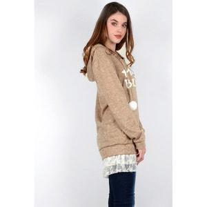 Sweter z kapturem z cienkiej dzianiny MOLLY BRACKEN