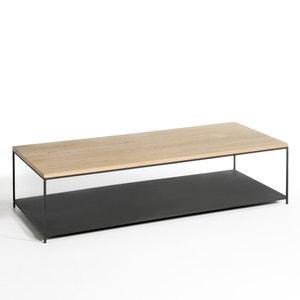 Mesa baja rectangular en roble macizo Aranza