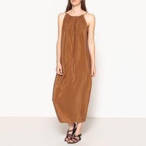Vestido de verão, alças finas, em seda, CUTY TOUPY