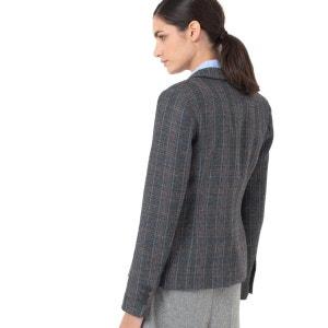 Blazer, kariert, 25% Wolle LAURA CLEMENT