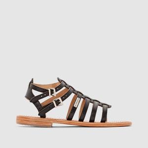 Sandales Hic, multibrides, talon plat, cuir LES TROPEZIENNES PAR M.BELARBI