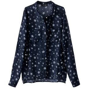 Bluse mit Sternenmuster und Zierknöpfen R édition