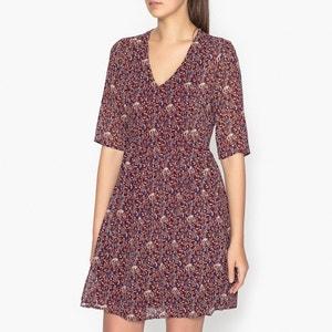 Bedrukte jurk met V-hals FLORAISON GARANCE