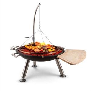 Turion Grill pivotant à suspension Brasero Barbecue Charbon de bois BLUMFELDT