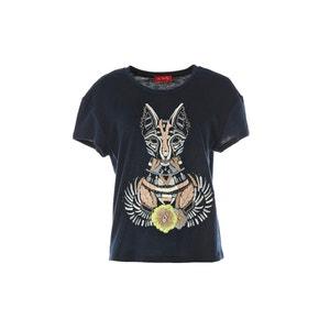 T-shirt con scollo rotondo fantasia, maniche corte RENE DERHY