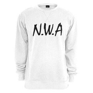 Sweat NWA Straight Outta Compton x Mister Tee Crewneck Blanc MISTER TEE