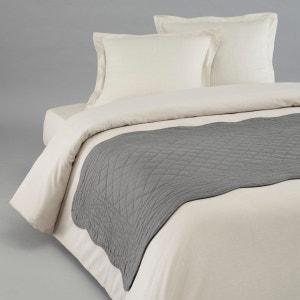 chemin de lit gris la redoute. Black Bedroom Furniture Sets. Home Design Ideas